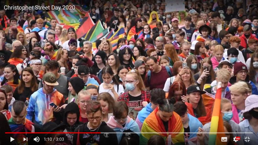 Crowd beim CSD 2020 Dresden
