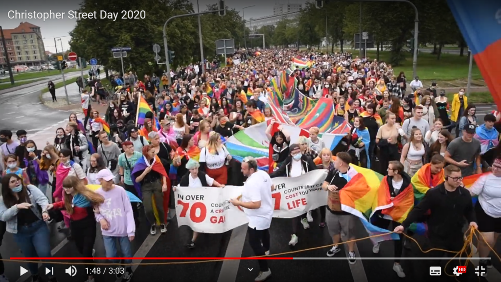 Crowd beim CSD 2020 in Dresden