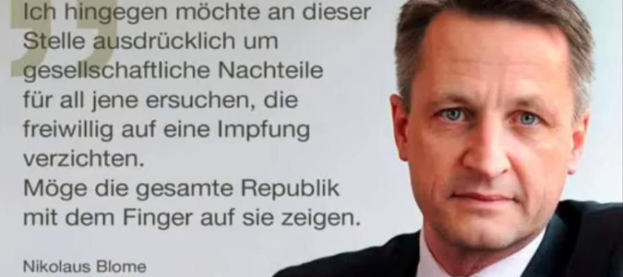 Nikolaus Blome fordert Diskriminierung