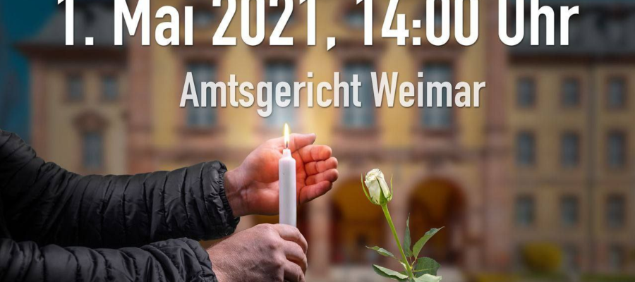 Demo in Weimar, 01.05.2021