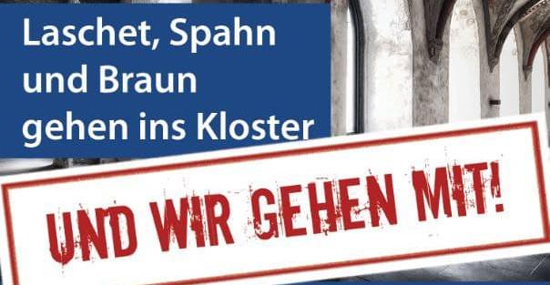Laschet, Spahn, Braun Kloster